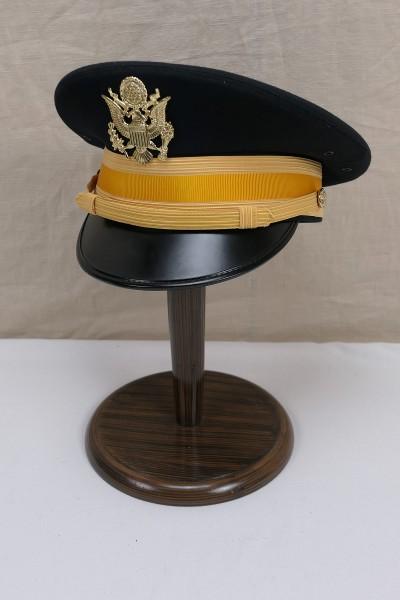 Original US Army Cavalry Officers Dress Blue Uniform Visor Hat Cap / Size 7 / 56cm