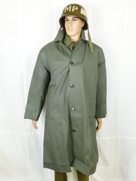 US ARMY WW2 Raincoat Synthetic Resin Coated O.D. Dismounted Raincoat Rainjacket