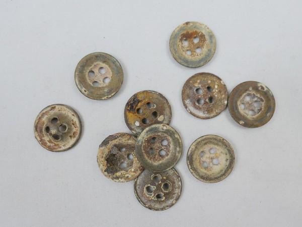 Wehrmacht Uniform Buttons Tent Buttons Buttons 10 pieces 17mm diameter