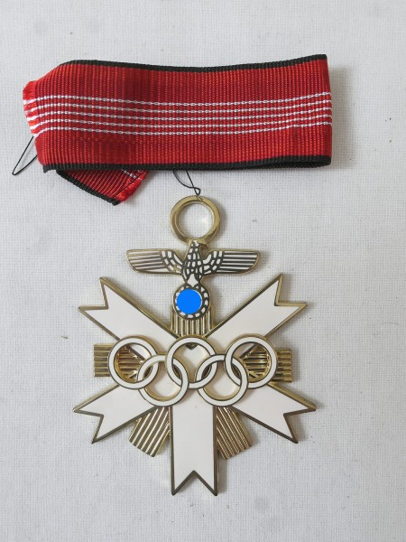 German Olympic Medal of Honor 1936 2nd Class on Ribbon