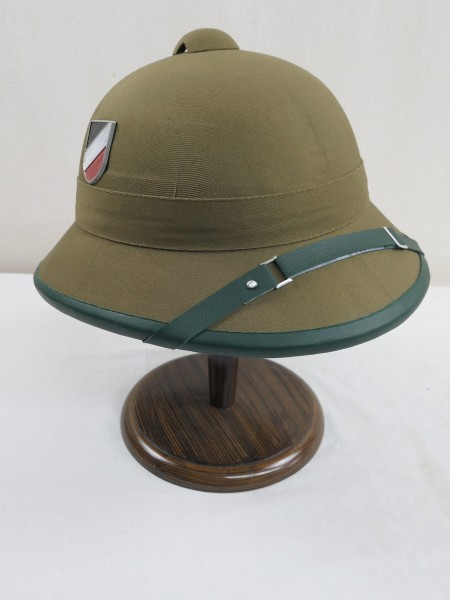 Tropical helmet Afrikakorps Wehrmacht DAK with both badges