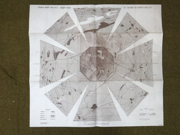 """US Army Defence Map Landing Map """"St. Pierre du Mont"""" 1944 Map"""