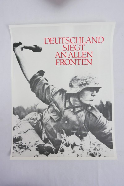 Poster Wehrmacht - Germany victorious on all fronts