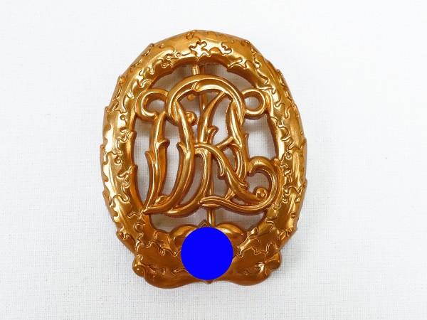 German Sport Badge Reich Sport Badge in Gold DRGM Hensler Pforzheim