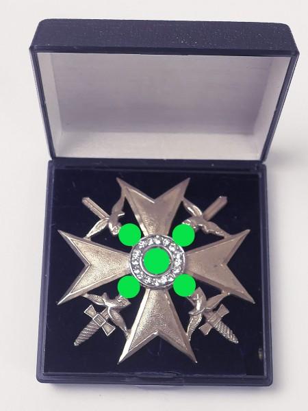 Spain cross with swords and diamonds imitation on pin honor cross