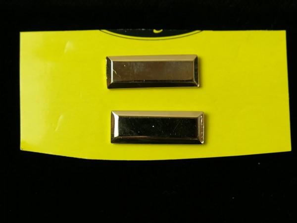 US LIEUTENANT BARS 1x pair level gold badge of rank