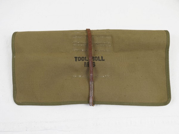 US WW2 M6 Tool Roll Bag Tool Bag with contents for Cal.50