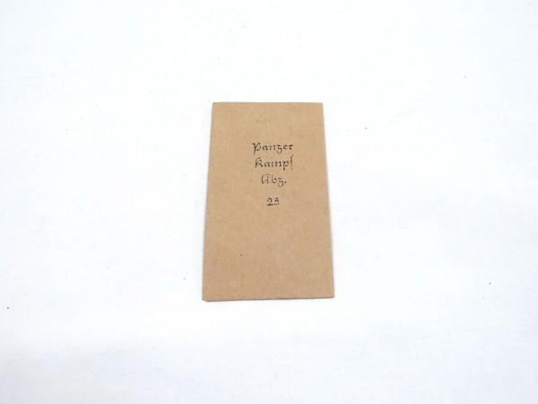 "Award bag for order ""Panzerkampfabzeichen 25"" (tank badge)"