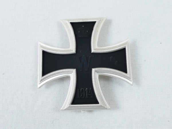 WK1 Iron cross 1st class 1914 EK1 on needle convex design