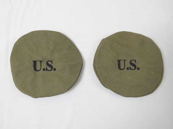 2x US ARMY Canvas Lamp Headlight Cover COVER Willys Jeep MB M201