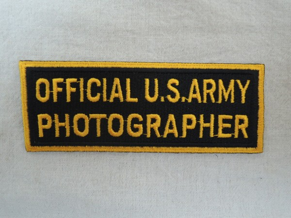 US Army Badge OFFICIAL U.S. ARMY PHOTOGRAPHER