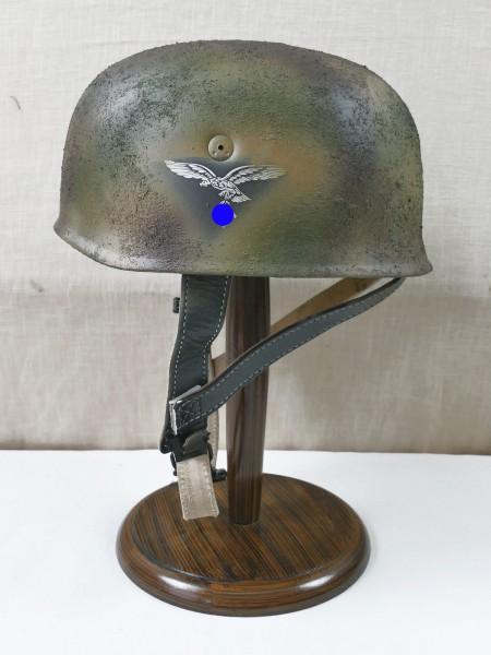 paratrooper helmet Rauhtarn camouflage steel helmet M38 Luftwaffe DD / head size Gr. 57/58
