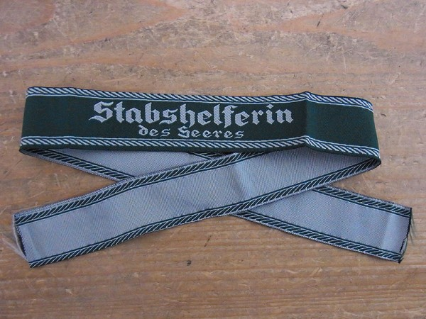 """Army Staff Assistant"""" sleeve band"""