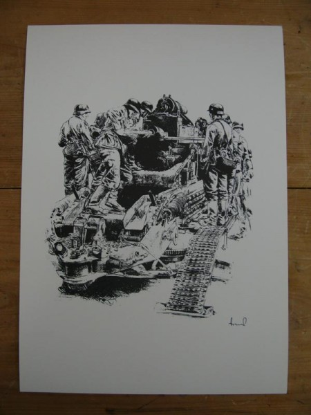 WH art print heavy field howitzer