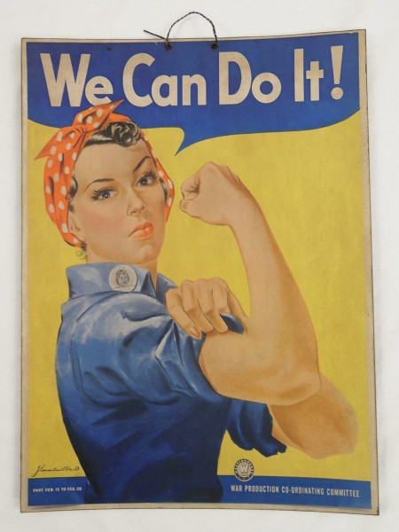 Advertising - Picture Poster Poster Recruitment Women/ on heavy cardboard - Cardboard Vintage