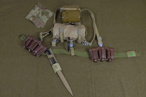 Wehrmacht DAK Set K98 Koppelzeug 110cm - belt haversack Y-strap A-frame 2x cartridge pouch