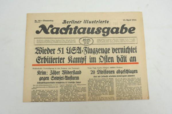 WK2 daily newspaper Berliner Illustrierte Nachtausgabe newspaper April 13, 1944