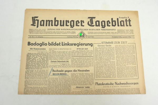 WK2 daily newspaper Hamburger Tageblatt newspaper 18 April 1944
