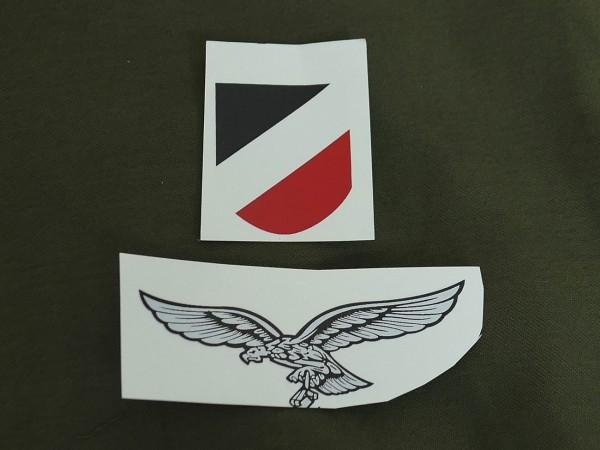 Luftwaffe helmet badges / water-soluble decals