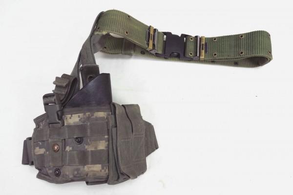 Original US Vapor Tactical Leg Holster SPEC OPS ACU VCP Leg Holster + LC-2 Pistol Belt Hole Coupler