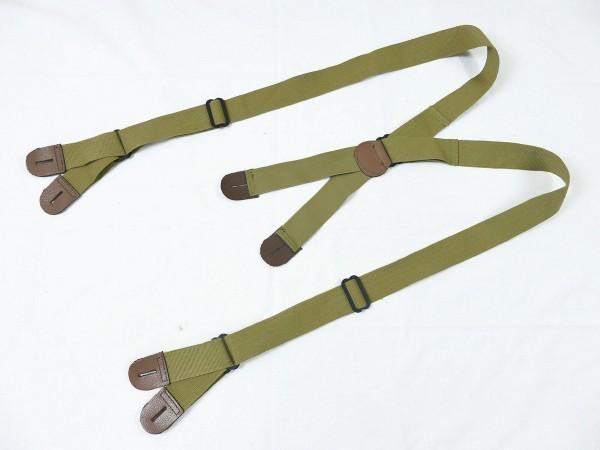 US ARMY WW2 SUSPENDERS PARATROOPER JUMP TROUSERS Suspenders size long