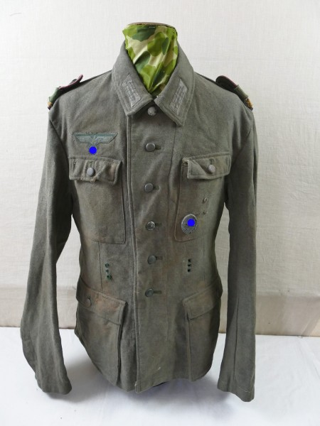 Wehrmacht Panzerjäger field blouse M43 uniform completely effectuated from exhibition museum