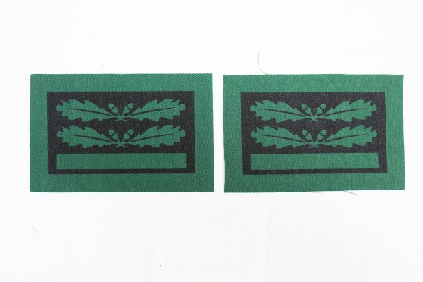 1x pair of WSS Sturmbannführer rank badges for camouflage uniforms and special clothing