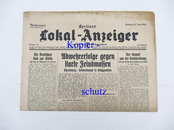 WK2 newspaper Berlin daily newspaper - Berliner Lokal-Anzeiger 30 June 1944 - morning edition