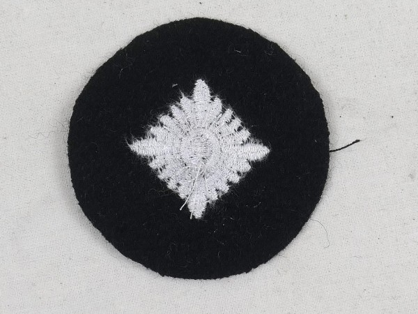 Wehrmacht tank rank star white fabric embroidered rank badge weapon color black