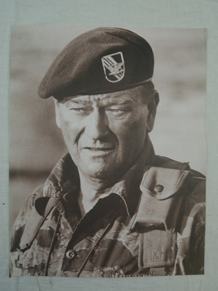 Picture Poster Poster John Wayne in Tiger Stripe Suit Special Forces Viet Nam