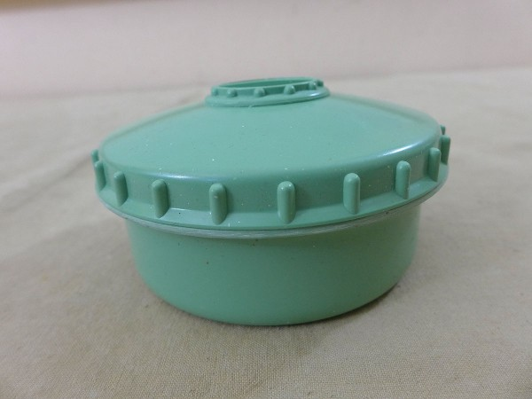 Can of spices salt / pepper / butter / container / storage can with shaker green