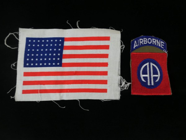 US Army 82nd Airborne Division & USA Flag stars & stripes patch Patch