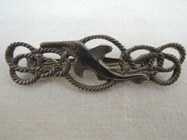 Wehrmacht Marine Small Arms Badge Bronze on Needle