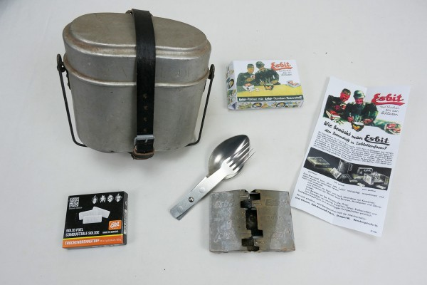 Cookware complete set type Wehrmacht with cooker + dry fuel + spoon