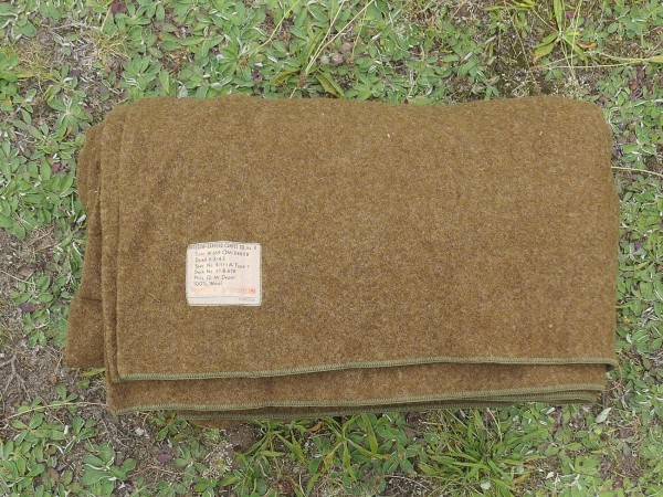 1943 Original US ARMY WW2 Wool Virgin Blanket OD Wool Blanket Camp Blanket