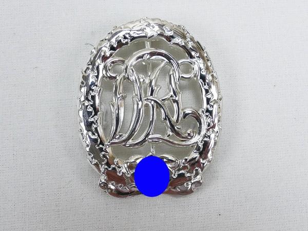 German sports badge Reichssportabzeichen in silver DRGM Hensler Pforzheim