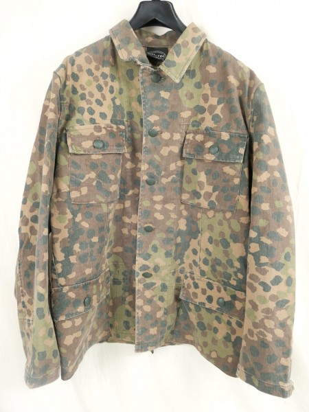 Vintage M44 pea camouflage field blouse camouflage jacket four pocket skirt / pea dot - prewashed size 50