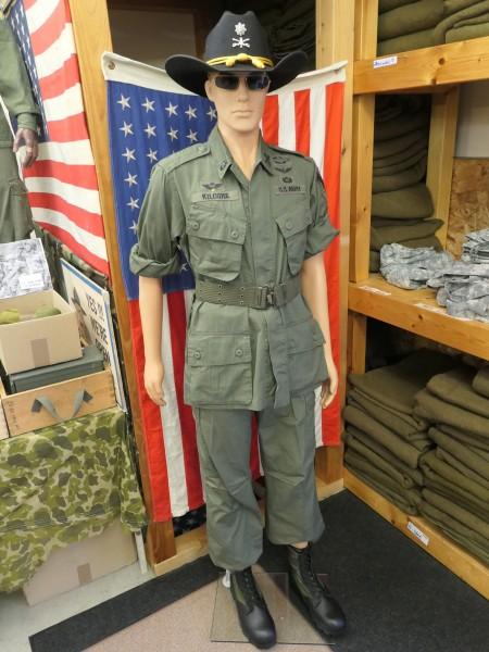 US Army Vietnam Jungle M 64 Uniform Lt. Colonel Bill Kilgore costume