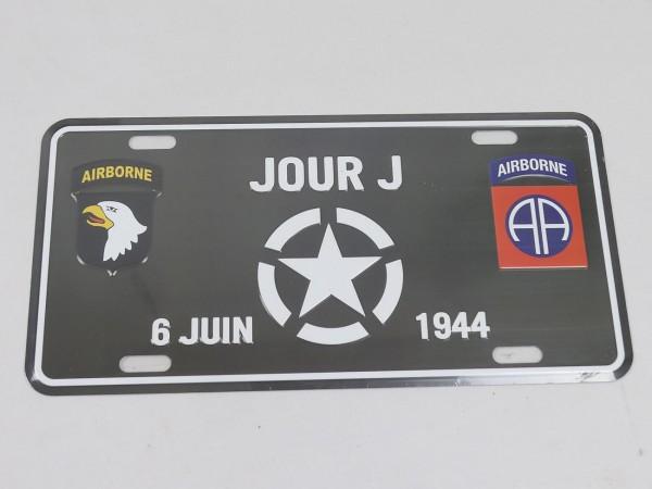 Tin sign / D-Day / Jour J / Airborne sign 1944-Copy