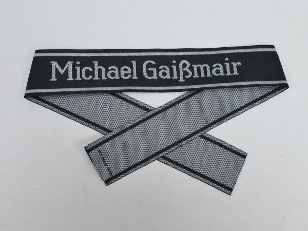 Wehrmacht Elite BEVO sleeve band Waffen SS Division MICHAEL GAIßMAIR sleeve stripes