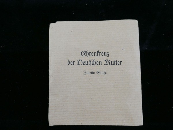 Wehrmacht Award Envelope for Honour Cross of the German Mother Second Stage
