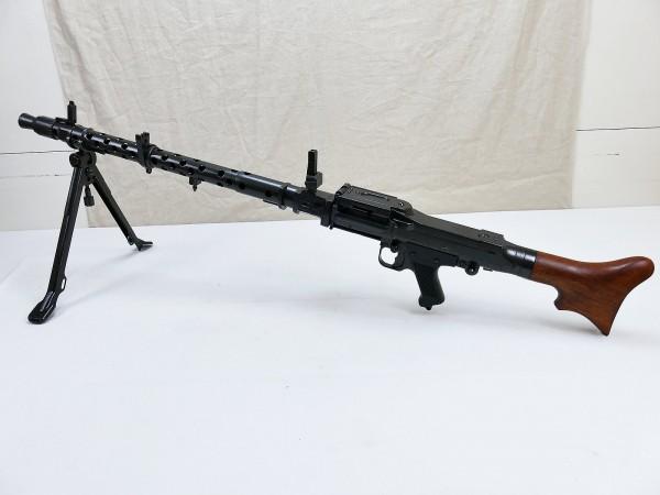 Wehrmacht Machine Gun MG34 Deco Model Film Gun Metal with Wood Shoulder Rest