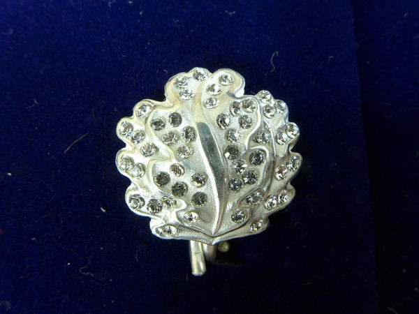 Oak Leaves EL 800 Silver L21 with Diamonds to the Knight`s Cross RK Iron Cross with Ribbon