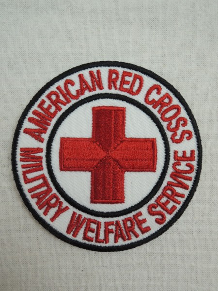 US Army American Red Cross ARC Military Welfare Service Patch patch