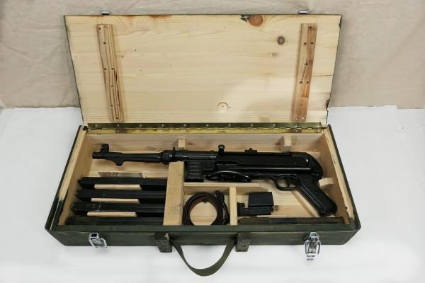 WK2 Wehrmacht MP38 MP40 transport case wooden case machine pistol weapon transport case olive