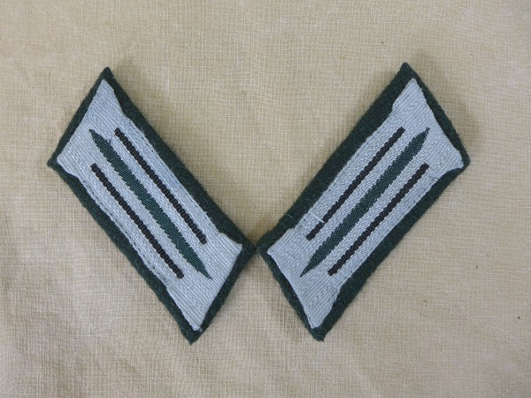 Wehrmacht pioneer collar mirror army teams on M36 base