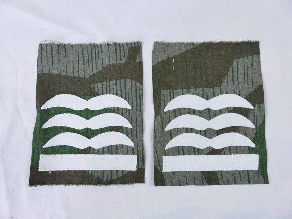 Luftwaffe rank badge HAUPTMANN on camouflage material bone bag paratrooper