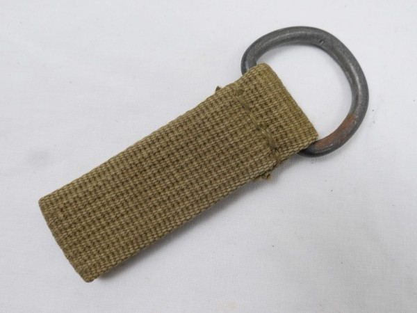 Wehrmacht DAK Tropical Belt Loop sand-coloured D-Ring Web Material Belt / Y-Belt