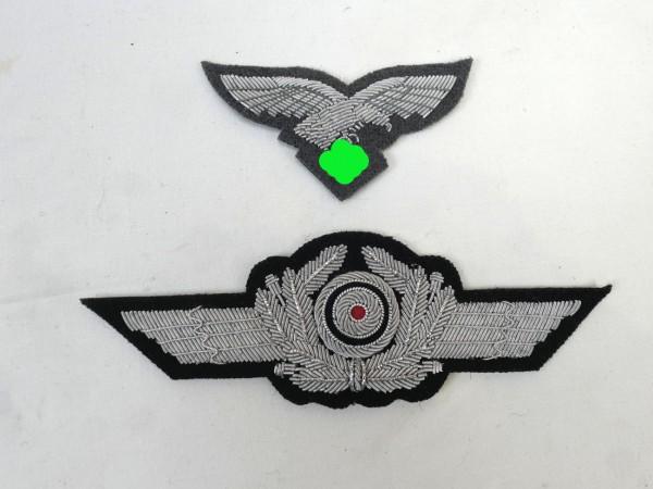 Set Effects Luftwaffen peaked cap officer / cap eagle + cap wreath LW airman paratrooper