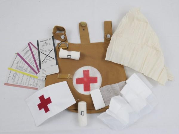 WK1 Paramedic Equipment Set in bag shoulder bag red cross armband bandage dressing sheet